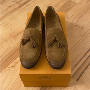 Brand New Tod's Suède Loafer with Tassle
